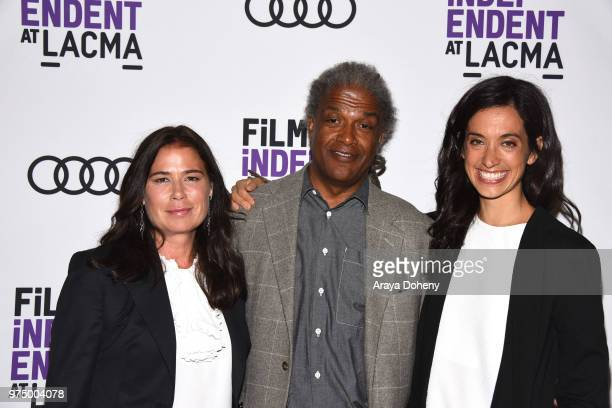 Maura Tierney Elvis Mitchell and Sarah Treem attend Film Independent at LACMA presents screening and QA of The Affair at Bing Theater At LACMA on...