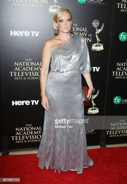 Maura West arrives at the 41st Annual Daytime Emmy Awards held at The Beverly Hilton Hotel on June 22 2014 in Beverly Hills California