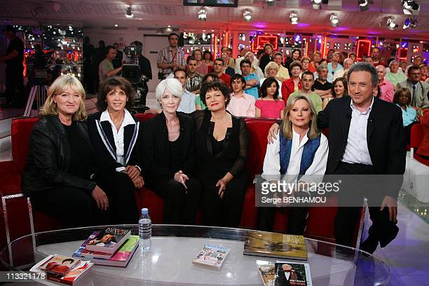Maurane On 'Vivement Dimanche' Tv Show In Paris, France On May 22, 2007 - Charlotte de Turckheim, Stephanie Fugain, Francoise Hardy, Maurane,...
