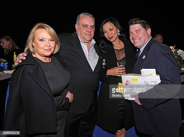 Maureen Curatola Tom Richardson Deborah Gandolfini and Vince Curatola attends The 7th Annual New Jersey Hall Of Fame Induction Ceremony on November...