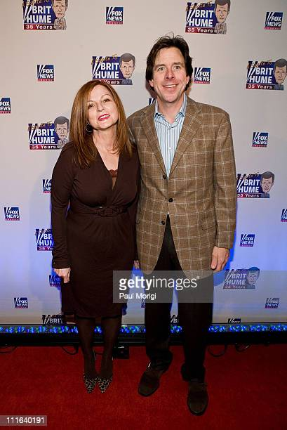 Maureen Dowd and guest attend salute to Brit Hume at Cafe Milano on January 8 2009 in Washington DC