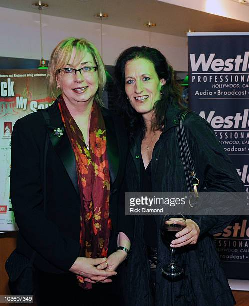 Maureen Downey and Guest attend the PE Wing Rock My Soul Event at The Villiage Studios on February 5 2009 in Los Angeles California