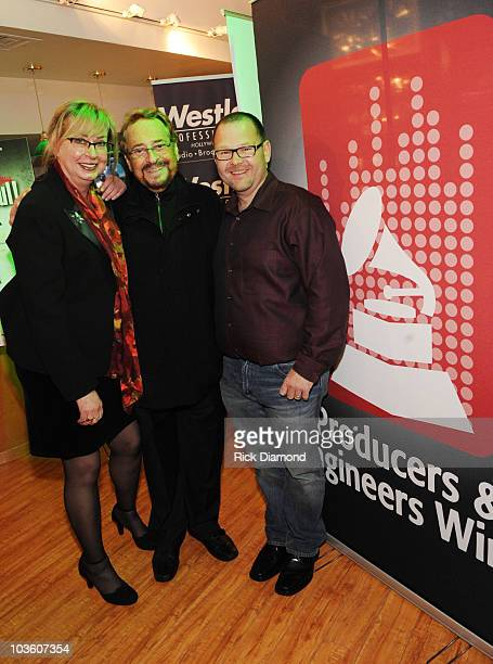 Maureen Downey Producer Phil Ramone and Guest attend the PE Wing Rock My Soul Event at The Villiage Studios on February 5 2009 in Los Angeles...