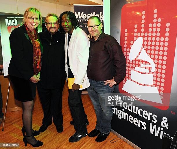 Maureen Downey Producer Phil Ramone Jerry Douglass and Guest attend the PE Wing Rock My Soul Event at The Villiage Studios on February 5 2009 in Los...