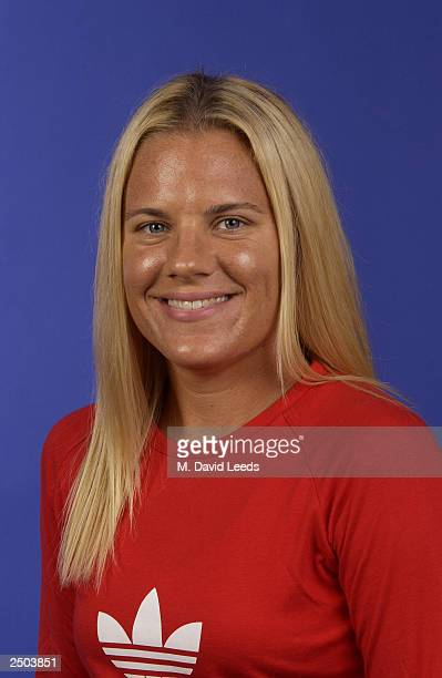 Maureen Drake of Canada poses for a portrait during the US Open at the USTA Tennis Center on August 24 2003 in Flushing Meadows New York