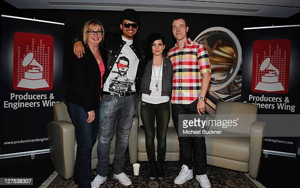 Maureen Droney Sr Executive Director Recording Academy Producers Engineers Wing producer Alex da Kid singer/songwriter Skylar Grey and DJ Skee attend...