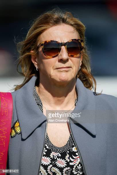 Maureen Haggas poses at Newmarket racecourse on April 18 2018 in Newmarket England