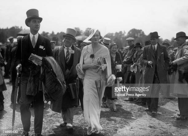 Maureen HamiltonTempleBlackwood nee Guinness Marchioness of Dufferin and Ava attends the first day of Ascot 18th June 1935