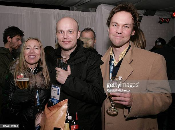 Maureen Hodgan Cam Christiansen and Cris Deamenor attend the Wold Cinema Filmmakers Welcome at the Stella Artois Cutting Room at the Sundance House...