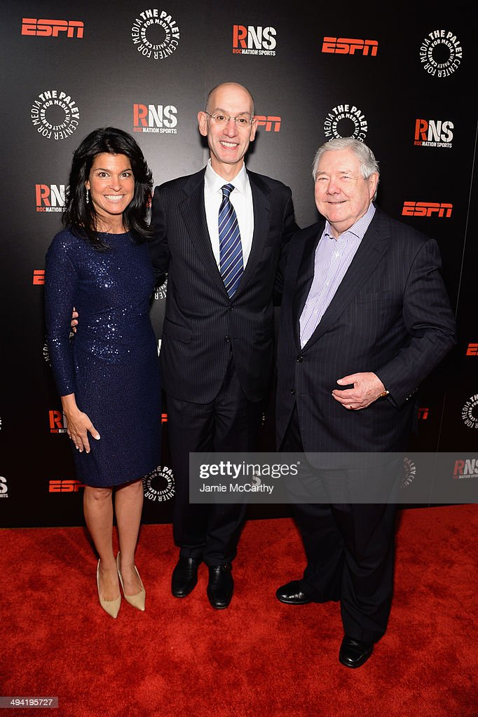 Maureen J. Reidy, Adam Silver and Frank A. Bennack Jr. attend the Paley Prize Gala honoring ESPN's 35th anniversary presented by Roc Nation Sports on May 28, 2014 in New York City.