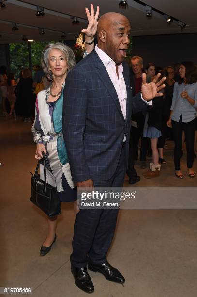 Maureen Lipman and Ainsley Harriott attend the press night performance of 'Tanguera' at Sadler's Wells Theatre on July 20 2017 in London England