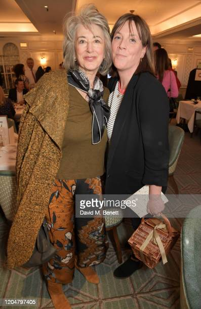 Maureen Lipman and Jess Phillips attend Turn The Tables 2020 hosted by Tania Bryer and James Landale in aid of Cancer Research UK at Fortnum Mason on...