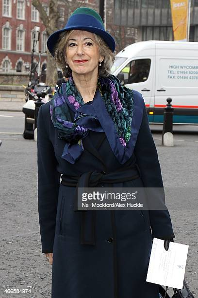 Maureen Lipman attends a Memorial Service for Sir Richard Attenborough at Westminster Abbey on March 17 2015 in London England
