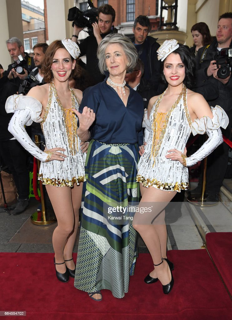 Maureen Lipman (C) attends the opening night of '42nd Street' at Theatre Royal on April 4, 2017 in London, England. The opening night is a fundraising event for the East Anglia Children's Hospice (EACH) of which the Duchess of Cambridge is Patron.