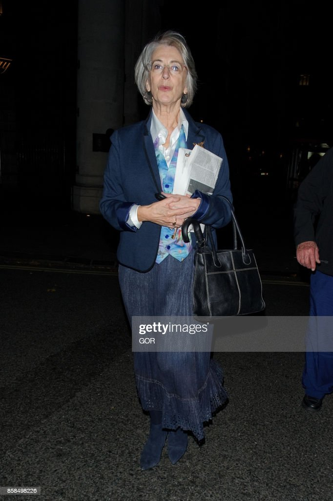 Maureen Lipman leaving The Delauney restaurant on October 6, 2017 in London, England.