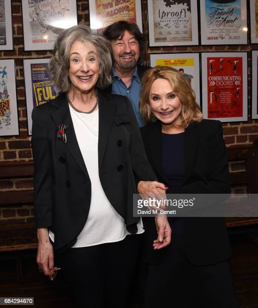 Maureen Lipman Trevor Nunn and Felicity Kendal attend the press night performance of Lettice and Lovage at the Menier Chocolate Factory on May 17...