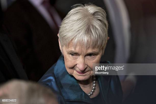 Maureen McCarthy Scalia wife of former US Supreme Court Justice Antonin Scalia attends a ceremony where US President Donald Trump nominated Neil...