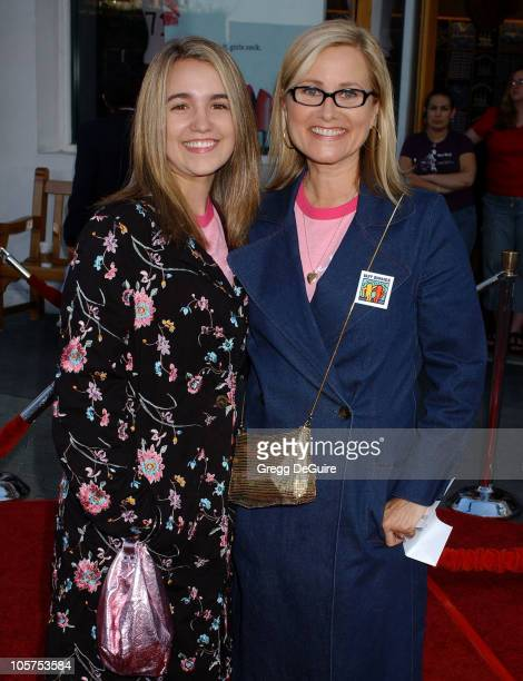 Maureen McCormick and daughter Natalie during 'Cinderella Man' Los Angeles Premiere Arrivals at The Gibson Amphitheatre in Universal City California...