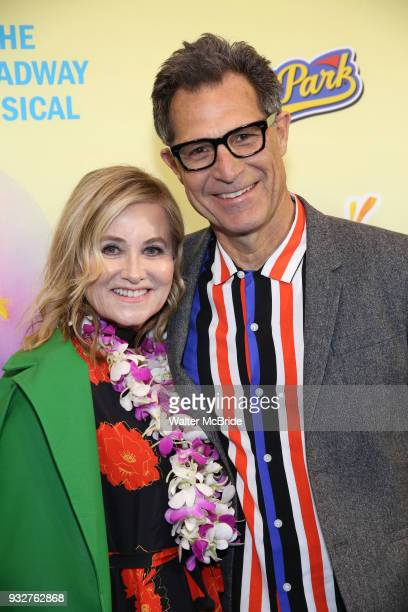 Maureen McCormick and Michael Cummings attend the Broadway Opening Night After Party for 'Escape To Margaritaville' at Pier Sixty on March 15 2018 in...