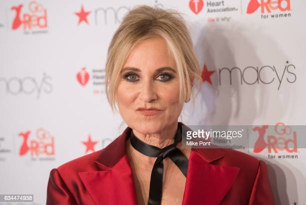 Maureen McCormick attends the American Heart Association's Go Red for Women Red Dress Collection 2017 during New York Fashion Week at Hammerstein...