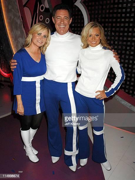 Maureen McCormick Barry Williams and Kelly Ripa during 5th Annual TV Land Awards Backstage at Barker Hangar in Santa Monica California United States
