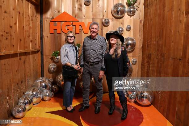 Maureen McCormick Barry Williams and Susan Olsen of the Brady Bunch attend the HGTV Lodge at CMA Music Fest on June 07 2019 in Nashville Tennessee