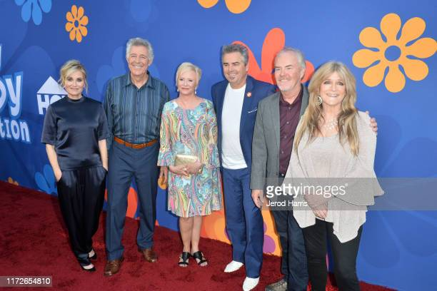 Maureen McCormick Barry Williams Eve Plumb Christopher Knight Mike Lookinland and Susan Olsen attend the Premiere of HGTV's 'A Very Brady Renovation'...