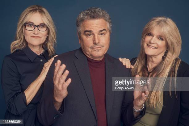 Maureen McCormick Christopher Knight and Susan Olsen of Discovery's 'Brady Bunch' pose for a portrait during the 2019 Summer TCA Portrait Studio at...