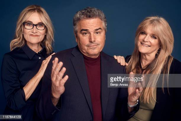 Maureen McCormick Christopher Knight and Susan Olsen of HGTV's 'A Very Brady Renovation' poses for a portrait during the 2019 Summer Television...
