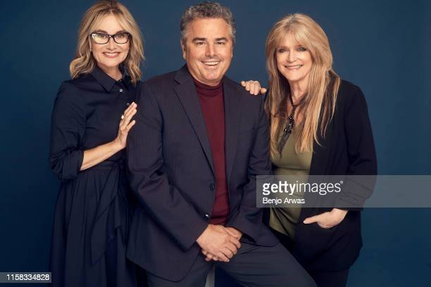 Maureen McCormick Christopher Knight and Susan Olsen of HGTV's 'A Very Brady Renovation' pose for a portrait during the 2019 Summer TCA Portrait...