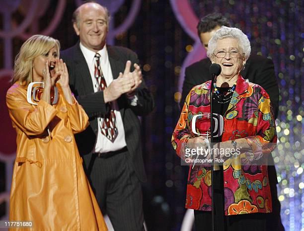 Maureen McCormick Lloyd J Schwartz and Ann B Davis winners Pop Culture Award for The Brady Bunch