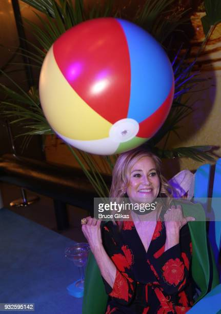 Maureen McCormick poses at the Opening Night of The Jimmy Buffett Musical Escape To Margaritaville on Broadway at The Marquis Theatre on March 15...