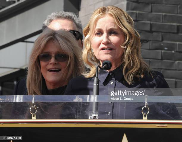 Maureen McCormick speaks at the Sid And Marty Krofft Star Ceremony On The Hollywood Walk Of Fame on February 13 2020 in Hollywood California