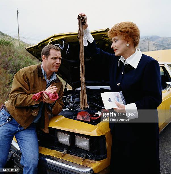 Maureen O'Hara as Katherine Eure and Jason Beghe as Mike Donahue star in CAB TO CANADA broadcast November 29 1998
