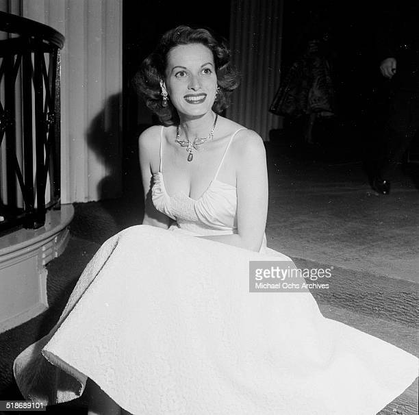 Maureen O'Hara attends the Friars Dinner in Los AngelesCA