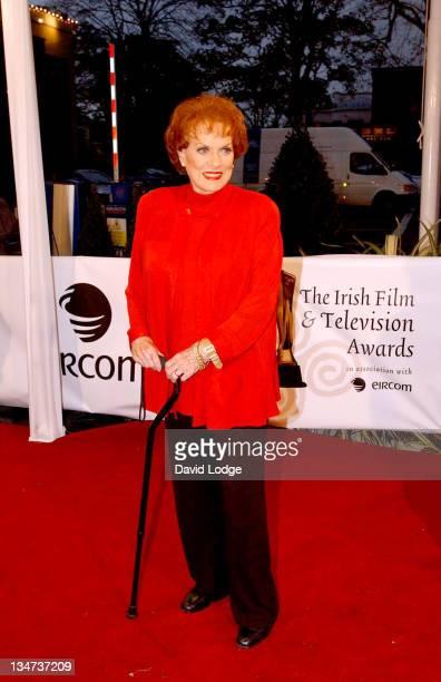 Maureen O'Hara during The Irish Film and Television Awards 2004 Arrivals at The Burlington Hotel in Dublin Ireland