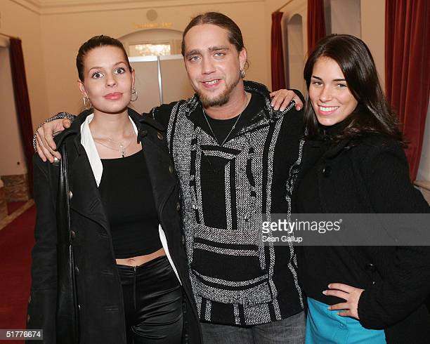 Maureen Sauter Martin Kesici and Janine Habeck attend the Artists Against AIDS Gala at the Theater des Westens November 22 2004 in Berlin Germany