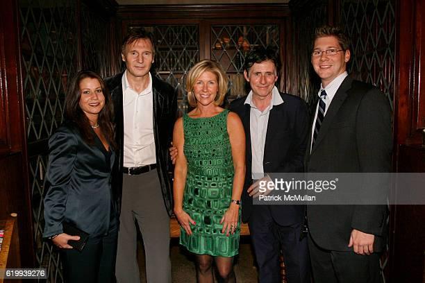 Maureen Shea Liam Neeson Pat Houlihan Gabriel Byrne and Mike McEvoy attend IRISH ARTS CENTER'S Ninth Annual Spirit of Ireland Gala at New York...