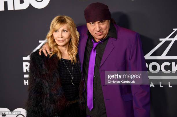 Maureen Van Zandt and Steven Van Zandt attend the 2019 Rock Roll Hall Of Fame Induction Ceremony at Barclays Center on March 29 2019 in New York City
