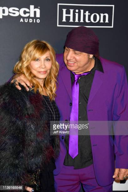 Maureen Van Zandt and Steven Van Zandt attend the 2019 Rock & Roll Hall Of Fame Induction Ceremony at Barclays Center on March 29, 2019 in New York...