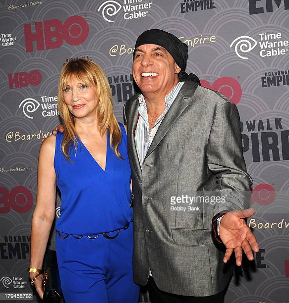 Maureen Van Zandt and Steven Van Zandt attend the premiere of HBO's Boardwalk Empire at the Ziegfeld Theater on September 3 2013 in New York City