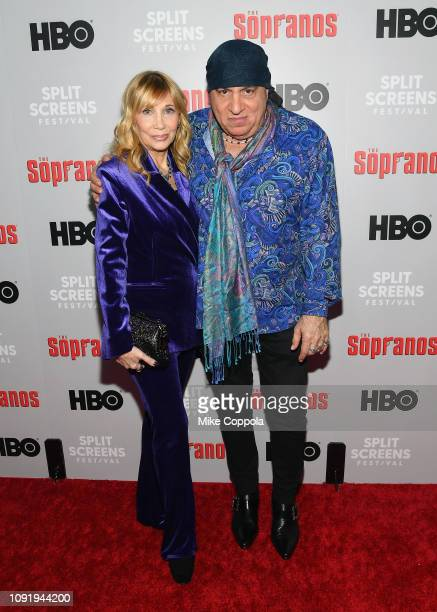 Maureen Van Zandt and Steven Van Zandt attend the The Sopranos 20th Anniversary Panel Discussion at SVA Theater on January 09 2019 in New York City