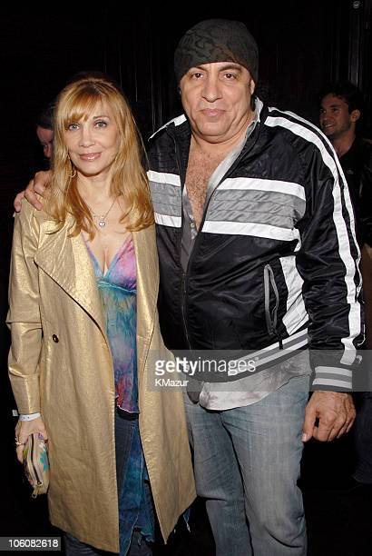 Maureen Van Zandt and Steven Van Zandt during Entourage Season Three New York Premiere After Party at Buddha Bar in New York City New York United...