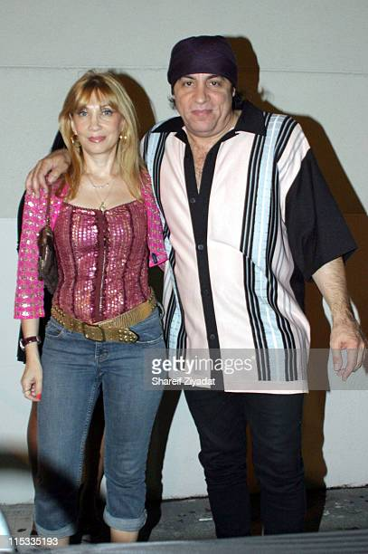 Maureen Van Zandt and Steven Van Zandt during The Cast of The Sopranos Sighting at GLO in New York City August 7 2005 at GLO in New York City New...