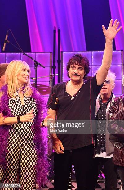 Maureen Van Zandt Carmine Appice and Ricky Byrd at Count Basie Theater on August 29 2015 in Red Bank New Jerseyn