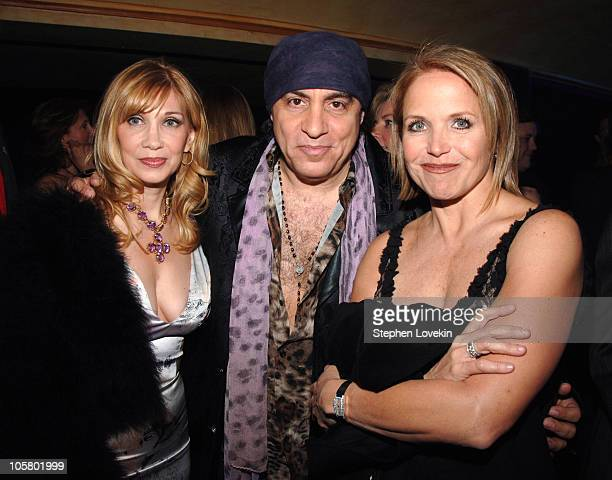 Maureen Van Zandt Steven Van Zandt and Katie Couric
