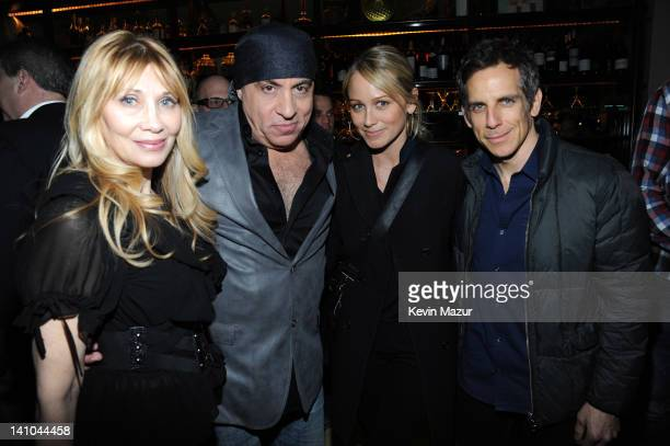 Maureen Van Zandt Steven Van Zandt Christine Taylor and Ben Stiller attend the after party for SiriusXM's celebration of 10 years of satellite radio...