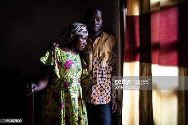 Maurice, 35-years-old, and Esperanze, 26-years-old, both Ebola survivors are seen outside their home in Beni , north eastern Democratic Republic of...