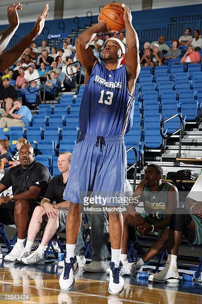 Maurice Ager of the Dallas Mavericks shoots a jumper during the Rocky Mountain Review Summer League game against the Seattle SuperSonics at Salt Lake...
