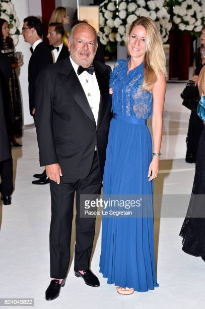 Maurice Amon and guest attend the 69th Monaco Red Cross Ball Gala at Sporting MonteCarlo on July 28 2017 in MonteCarlo Monaco